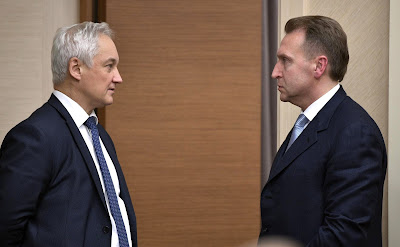 Andrei Belousov, Igor Shuvalov.