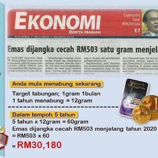 Nak Melabur Emas ::: 1 gram atau 1 kilogram terus ?