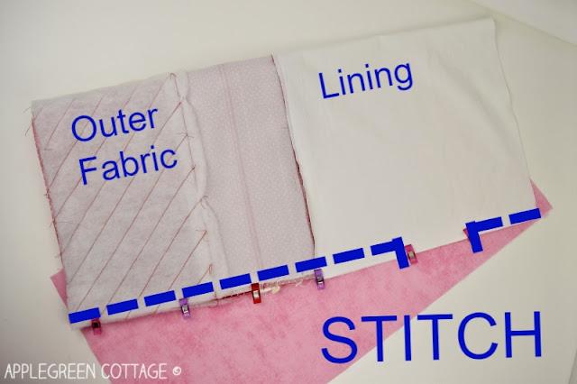 Christmas gift bag sewing