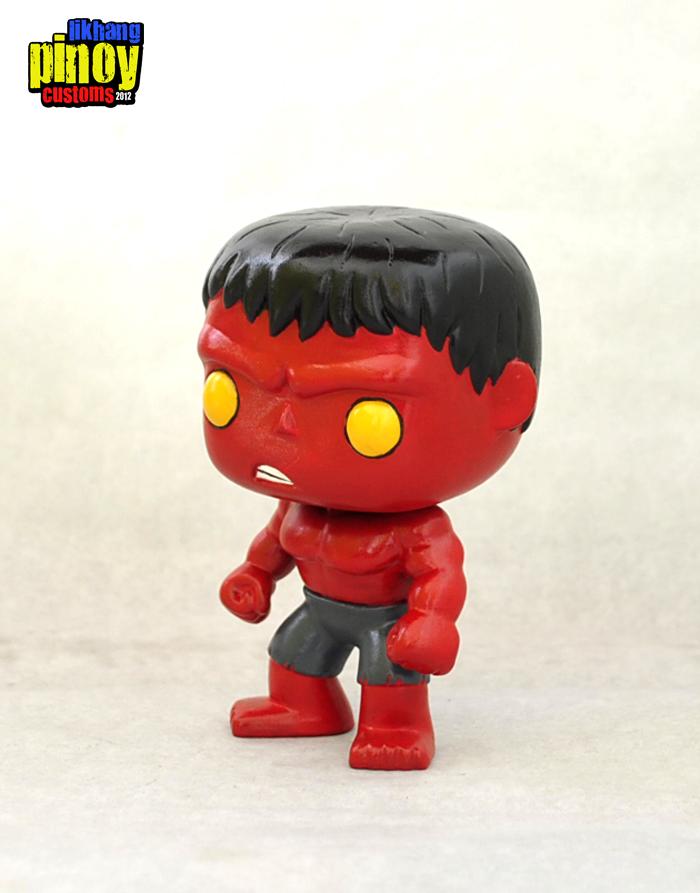 Likhang Pinoy Customs Red Hulk Funko Pop