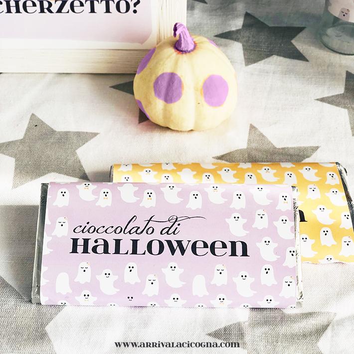 tavoletta di cioccolato per halloween