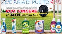 Logo C'e' aria di pulito! con Cif, Svelto, Coccolino e Lysoform vinci 4 iRobot Roomba
