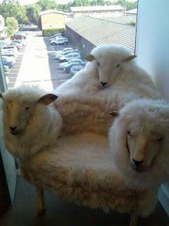 diseño de silla con lana