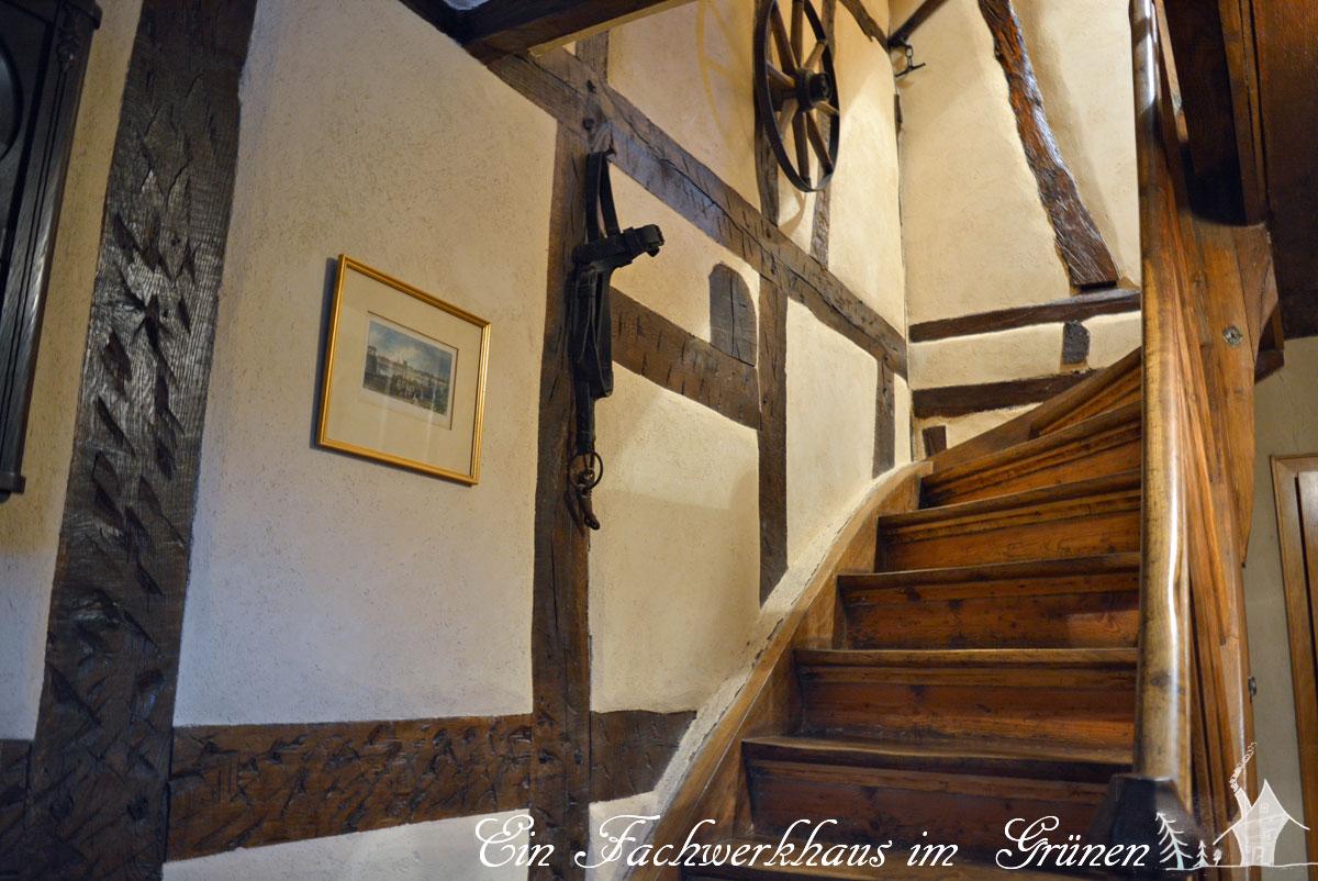Fachwerk, Treppe abschleifen