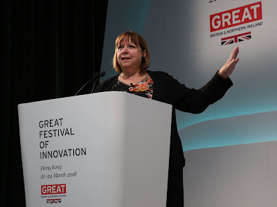 Source/credit: GREAT Festival of Innovation. Dame Hall kicked off Day 2 with a keynote speech titled Social And Sustainable: The Future Of Impact Investing.