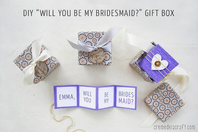 """DIY """"Will You Be My Bridesmaid?"""" Gift Box Free"""