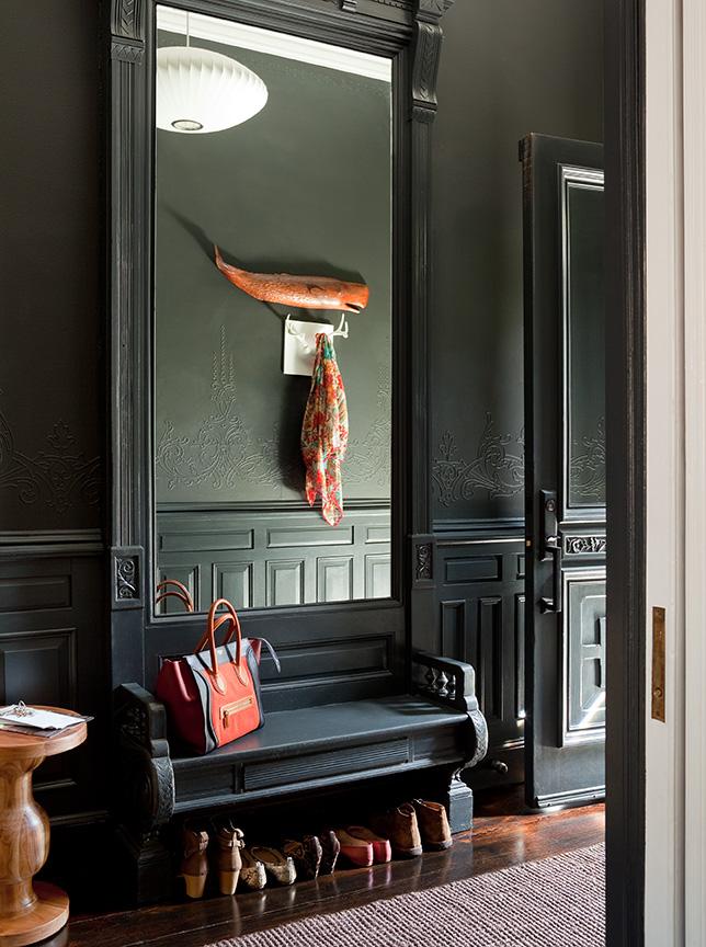 Foyer Mirror Newspaper : A moment of house zen brooklyn limestone