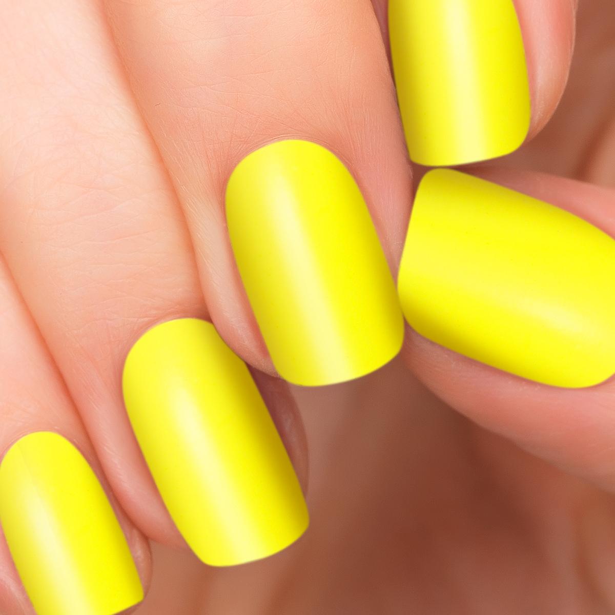 Yellow Nail Polish On: Square Yellow Nails