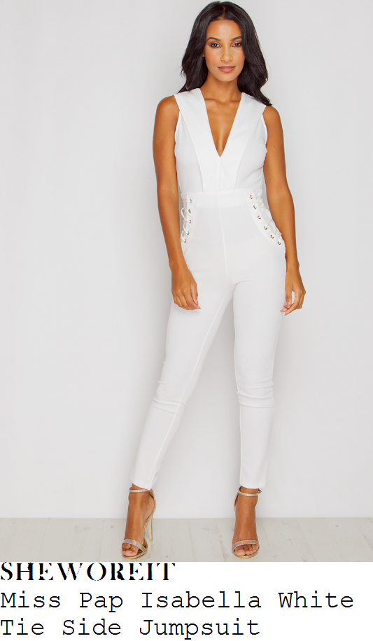 kady-mcdermott-miss-pap-isabella-bright-white-and-gold-sleeveless-plunge-front-lace-up-tie-side-detail-high-waisted-tailored-slim-leg-jumpsuit