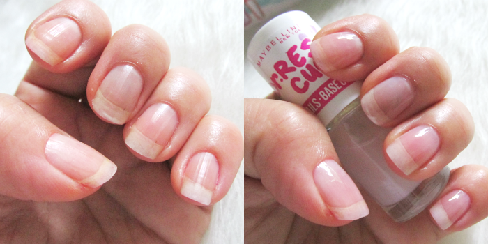 Maybelline Dr. Rescue CC Nails Base Coat - 2.95 Euro Vorher / Nachher