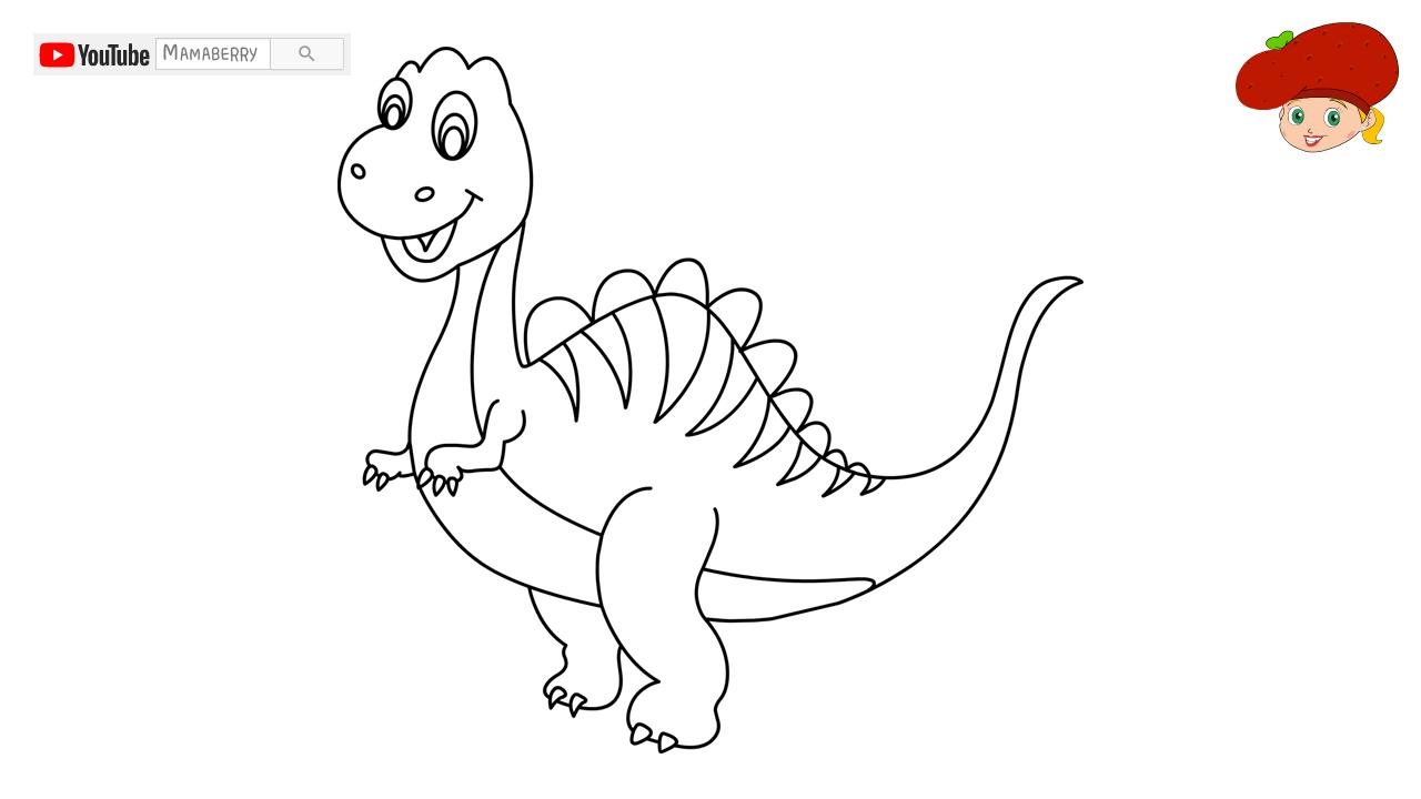 10 Gambar Mewarnai Dino Terkini Lingkar Png