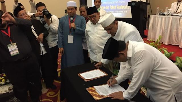 Ini Pesan Habib Rizieq saat Prabowo Teken Pakta Integritas dengan Ijtima Ulama