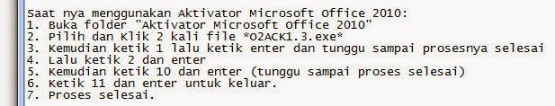 cara mengaktifkan microsof office 2010