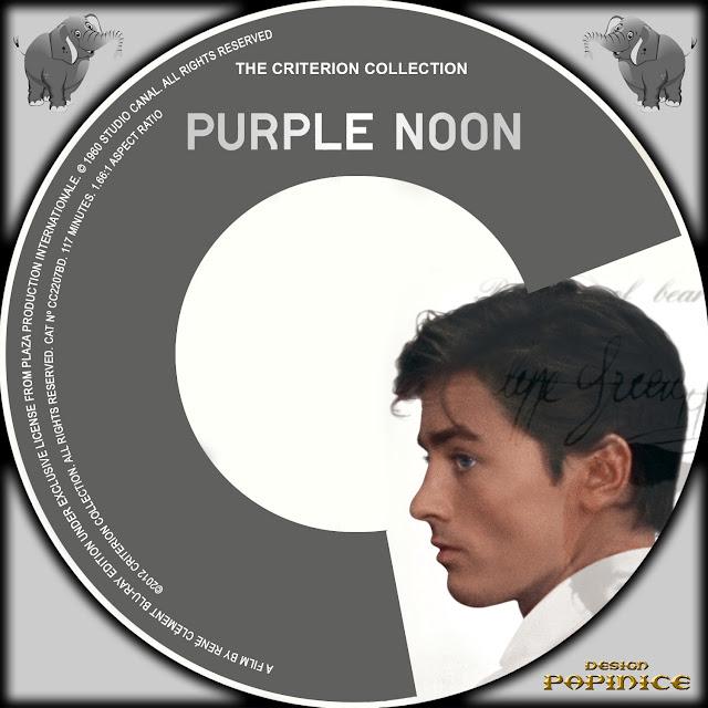 Purple Noon Bluray Label