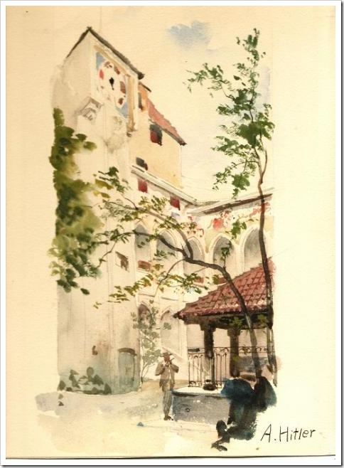 Orquídeas Brancas - Pinturas do Ditador Adolf Hitler