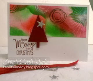 Zena Kennedy independent Stampin Up demonstrator One sheet wonder christmas card