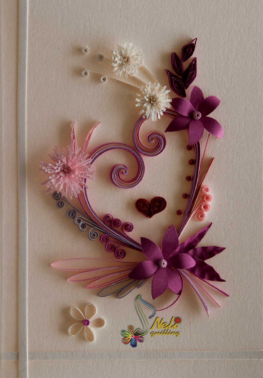 neli quilling art quilling cards  with love 2