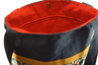 sac cabas original lin et tissu fait main