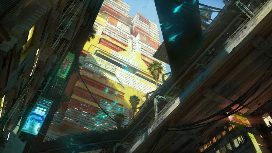 Cyberpunk 2077, City, Buildings, 4K, #3.2264
