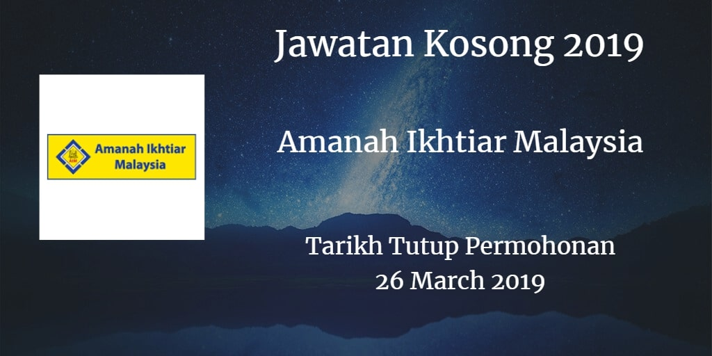 Jawatan Kosong AIM 26 March 2019