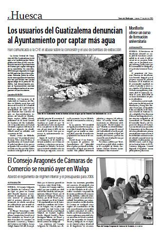 Fañanás: Los usuarios del Guatizalema denuncian al Ayuntamiento por captar más agua