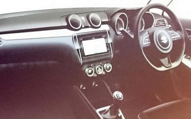 Next Gen Suzuki Swift Interior Design Leak