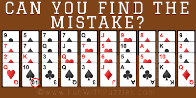 Answer of Finding Mistake Clever Picture Riddle
