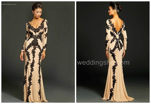 blush color prom gown