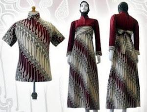 Model Baju Gamis Batik Terbaru 2019