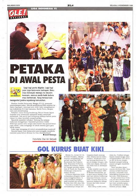 LIGA INDONESIA VI: PETAKA DI AWAL PESTA