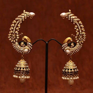 Ear Cuff Jhumkas - Zaamor Diamonds