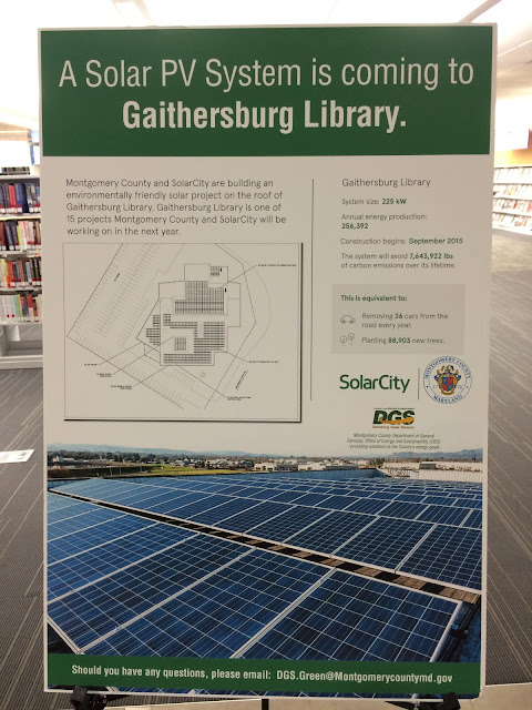 Solar City display at Gaithersburg Library