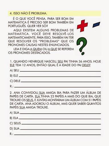 Atividades Variadas De Portugues 3ª Serie 3