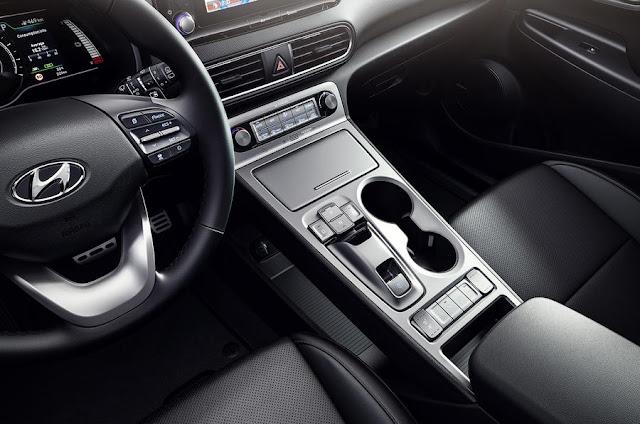 New Hyundai Kona Electric interior view