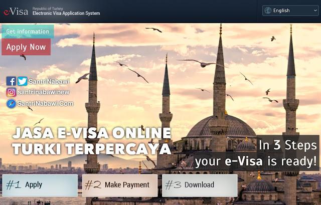 Jasa E-Visa Online Turki Terpercaya