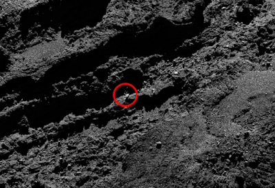 This is an odd Comet as it shows us strange structures.