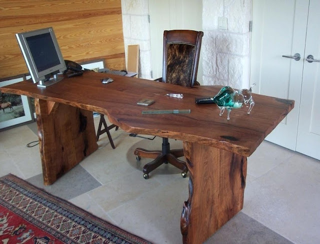 best buy large rustic office desk with chair for sale