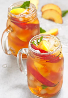 Iced Peach Mint Green Tea