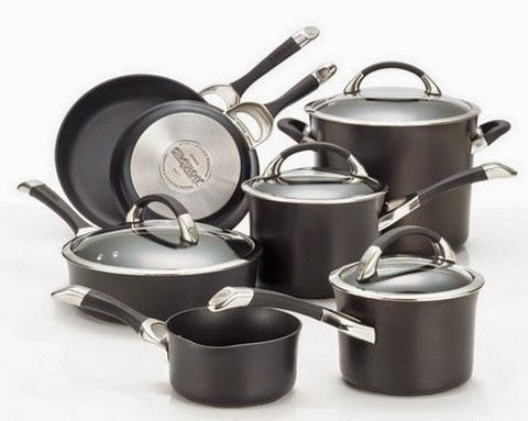 Circulon Hard Anodized Nonstick 11-Piece Cookware Set