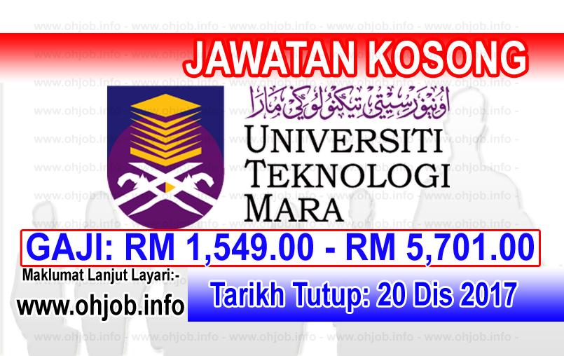 Jawatan Kerja Kosong UiTM Cawangan Terengganu logo www.ohjob.info disember 2017