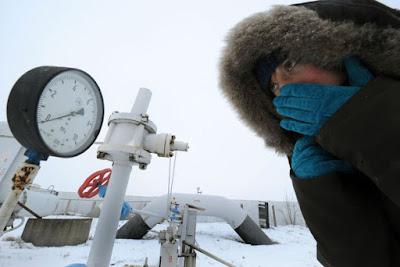 fagyhullám Európában, Gazprom, gázexport, földgáz