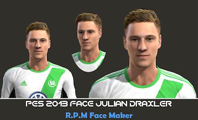 Pes 2013 Face Julian Draxler By R.P.M