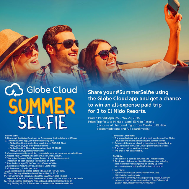 Globe Cloud Summer Selfie Promo