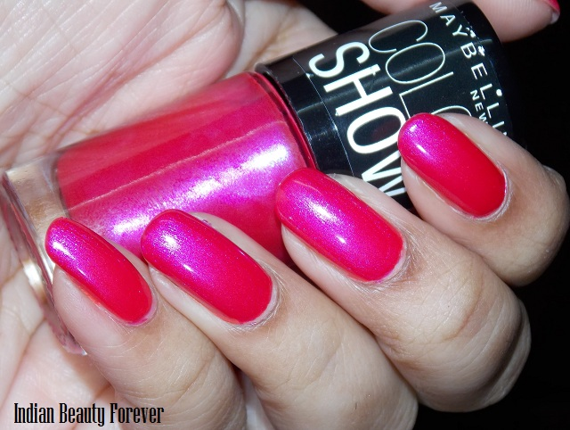 Maybelline Color Show Kiss me pink and Moon Beam Swatches & Review ...