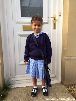 Child on first day of school