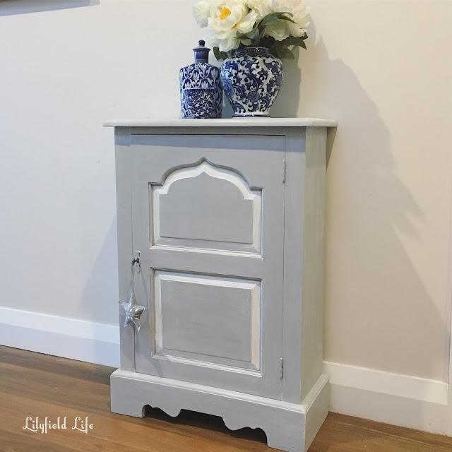Slimline cabinet, grey chalk paint Lilyfield Life