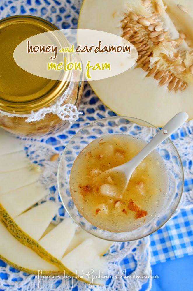 Honey and cardamom melon jam