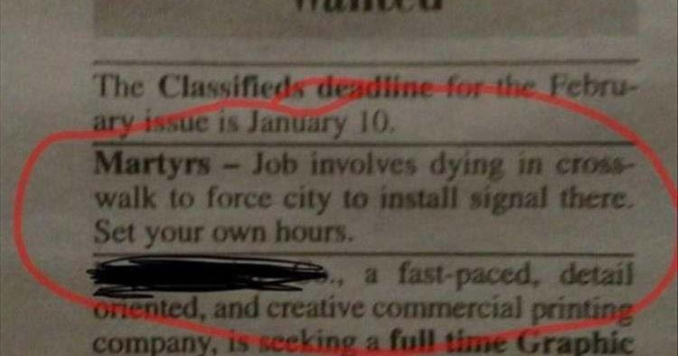 job offer martyrs