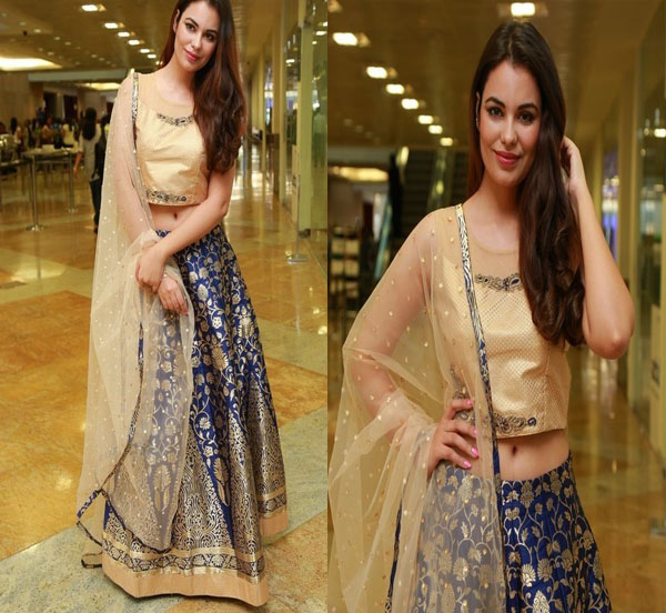 Srishti Rana in Skirt and Crop Top