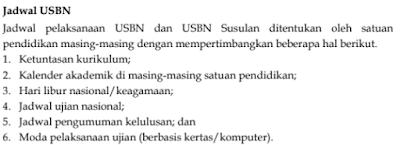 Jadwal USBN SDLB/MILB, SMPLB/MTsLB, DAN SMALB/MALB